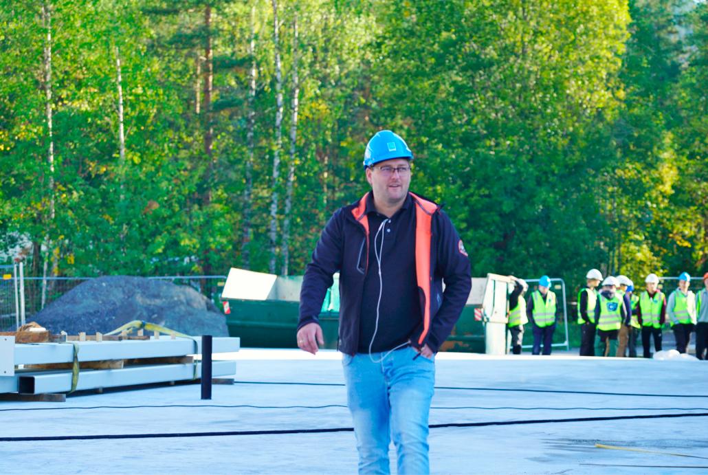 SHA koordinator Aleksander Bjerke på befaring