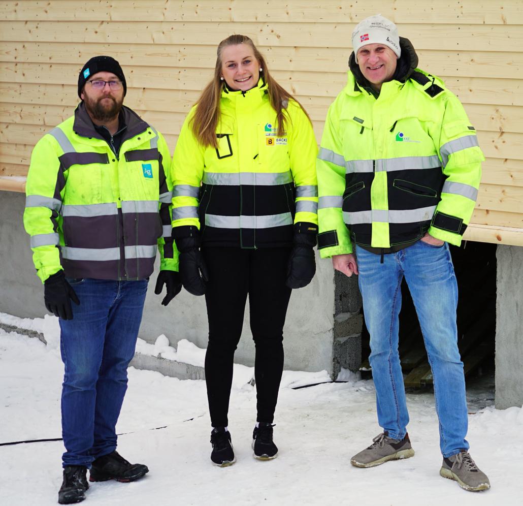 Aleksander Bjerke, Henriette Bakkerud og Brynjar Henriksen