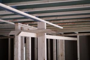 Detaljer innendørs under bygging