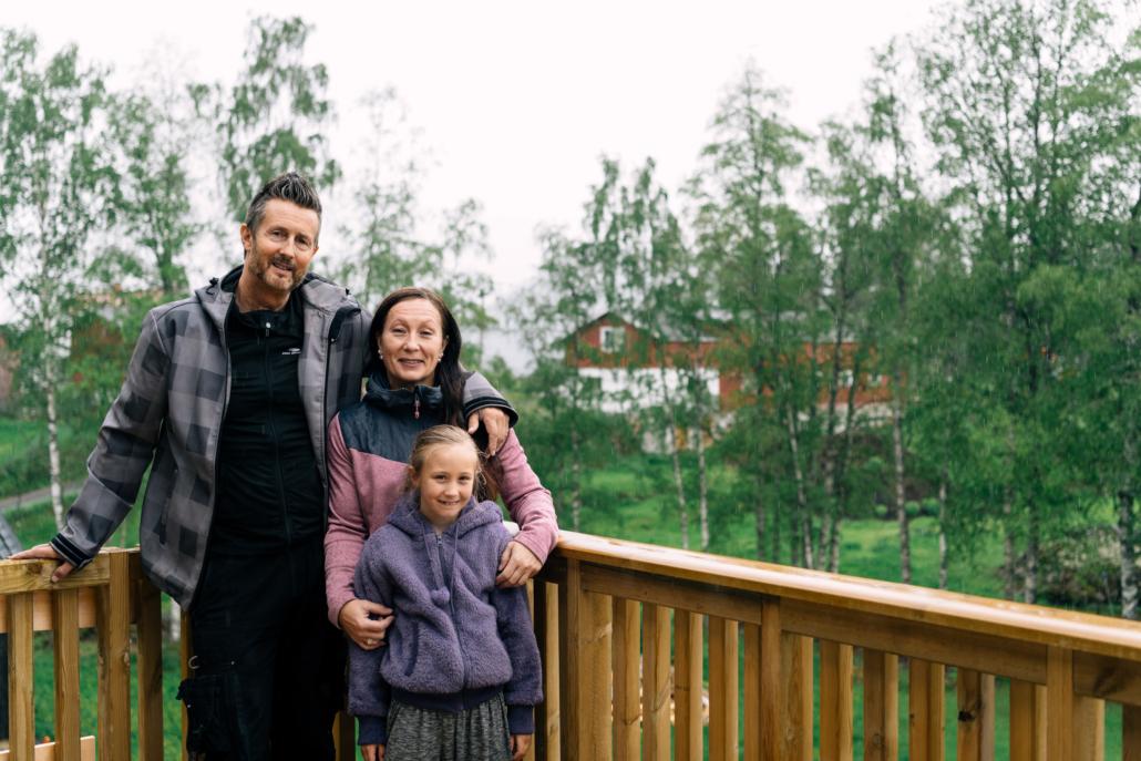 Michael, Cathrine og datteren Carmita