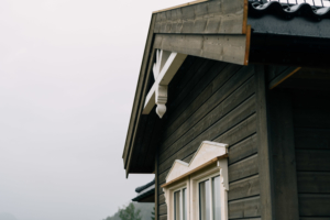 Utendørs detaljer på eneboligen i Hugstedgrenda