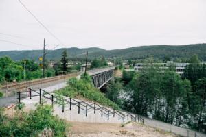 Betongtrapp ved Jernbanebrua i Kongsberg