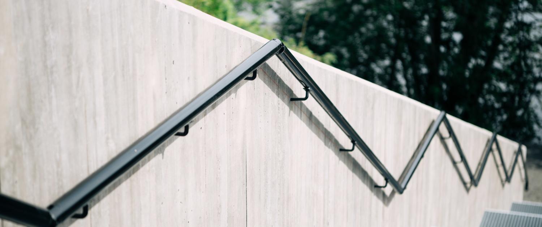 Rekkverk til betongtrapp