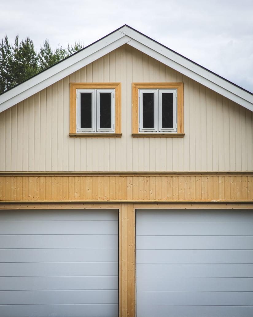 Garasje bygget i samarbeid med Kongsberg videregående skole